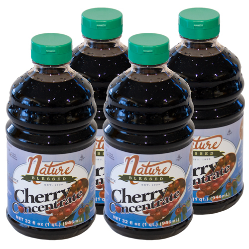 <p>100% Natural. Great Tasting! 4-Quarts of Tart Cherry Concentrate<br />Simply add two tablespoons (one ounce) of tart cherry concentrate to any liquid — water, cola, seltzer, etc, and you will get the power of 60 fresh tart cherries in a single serving. You'll enjoy a great tasting drink.</p>